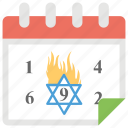 annual fast day, holiday, jewish calendar, saddest day, tisha b'av icon