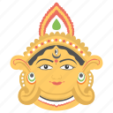 durga puja, hindu festival, maa durga, mandap decorations, temple decorations icon