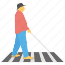 american official day, blind people, safety day, visually impaired, white cane icon