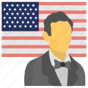 abraham lincoln, holiday, lincoln's birthday, official day, us president icon