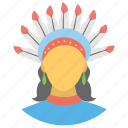 eagle day, indigenous people, native american day, red-indians icon