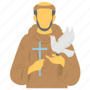 feast, francis of assisi, pop of animals, saint of environment, st francis icon