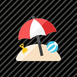 3, beach icon