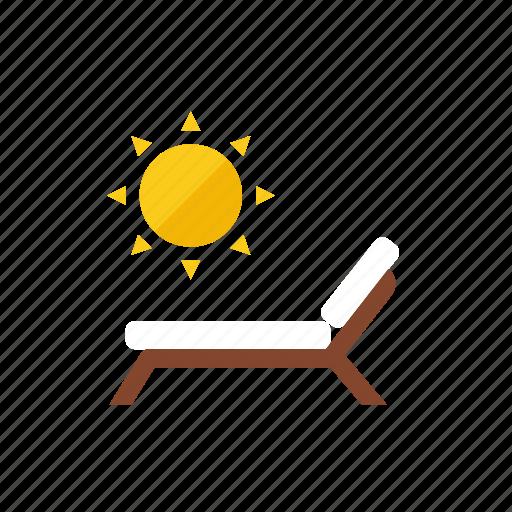 beach, chair icon