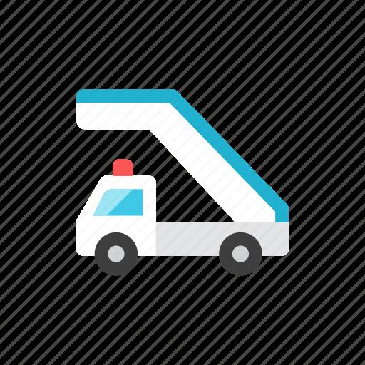 ladder, truck icon