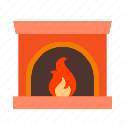celebration, christmas, decoration, fireplace, holiday, holidays, xmas icon