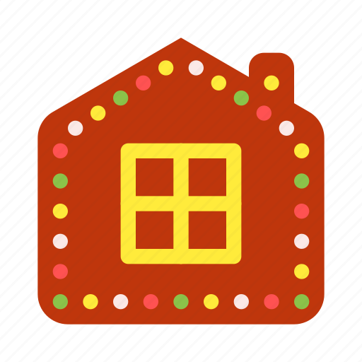 christmas, decoration, gift, gingerbread, house, sweets, xmas icon