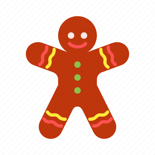 christmas, decoration, gift, gingerbread, man, sweets, xmas icon