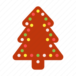 christmas, decoration, gift, gingerbread, holiday, tree, xmas icon