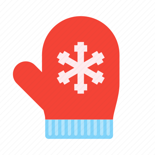 christmas, glove, holiday, mittens, snowflake, winter, xmas icon