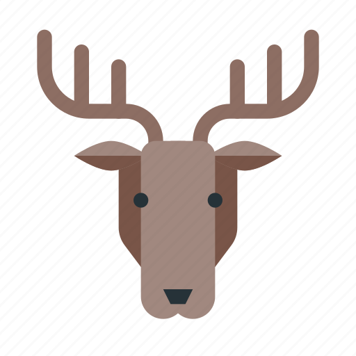 christmas, decoration, deer, reindeer, rudolf, rudolph, xmas icon