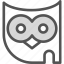 bird, forest, night, owl icon
