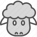 cub, easter, meat, sheep icon