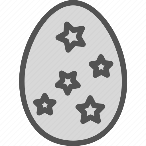 decor, egg, star, tree icon