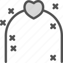 bound, family, gate, groom, husband, wedding, wife icon