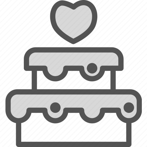 bound, cake, family, groom, husband, wedding, wife icon