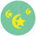 arabian, holidays, moon, occasions, stars