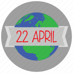 april, celebration, earth, holidays, occasions icon