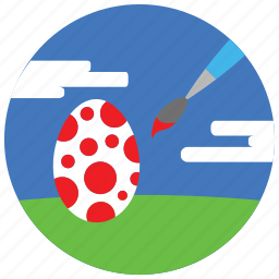brush, clouds, decorate, easter, holidays, occasions, paint icon