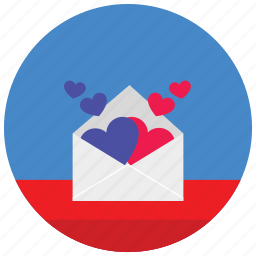 envelope, hearts, holidays, love, message, occasions, romance icon