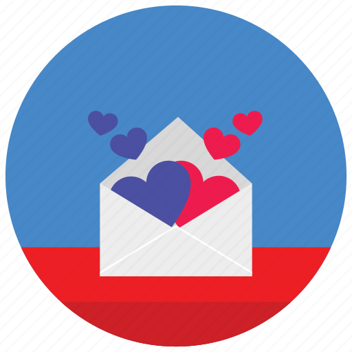 Envelope, hearts, holidays, love, message, occasions, romance icon - Download on Iconfinder