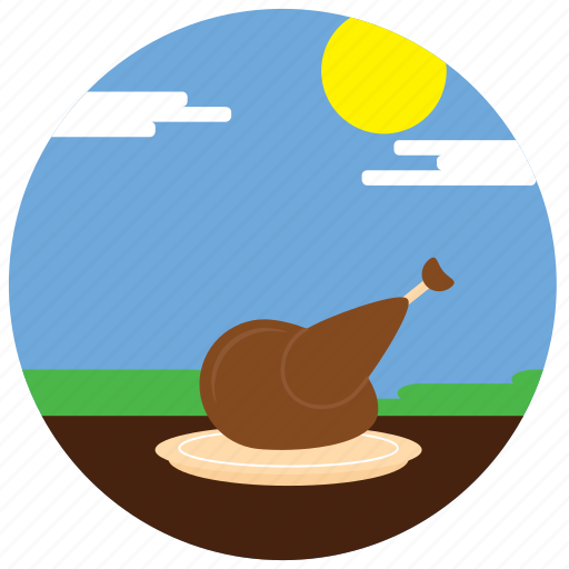 clouds, holidays, occasions, sun, thanksgiving, turkey icon