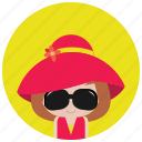 beach, hat, holidays, occasions, sunglasses icon