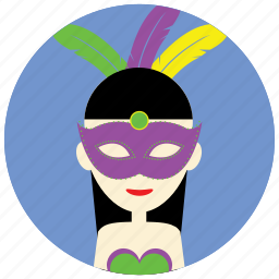 carnival, celebration, disguise, feathers, holidays, mask, occasions icon