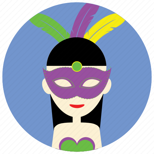 Carnival, occasions, feathers, mask, holidays, disguise, celebration icon