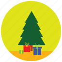 christmas, holidays, occasions, present, tree icon