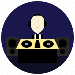 and, dj, headset, holidays, occasions, speakers icon