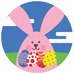 bunny, clouds, easter, eggs, holidays, occasions icon