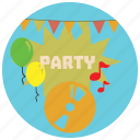 balloons, decorations, holidays, music, notes, occasions, party