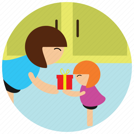 daughter, holidays, mother, occasions, presents icon