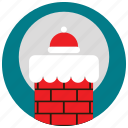 chimney, claus, holidays, moon, occasions, santa, snow