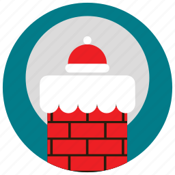 chimney, claus, holidays, moon, occasions, santa, snow icon