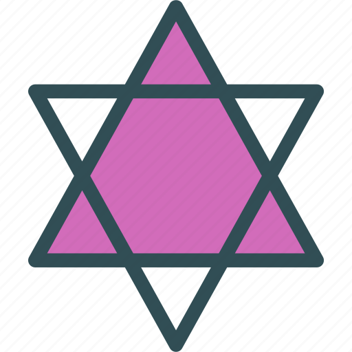 david, decor, israel, jew, star, tree icon