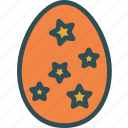 decor, egg, star, tree icon
