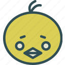 avatar, chicken, face, meat icon