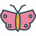 butterfly, color, peace, spring icon