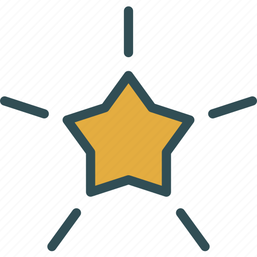 decor, star, tree icon