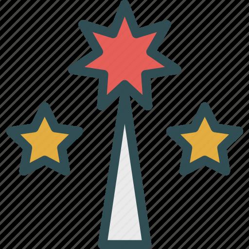 christmas, decor, ornament, star, stick, tree icon
