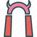 bad, condemned, cursed, gate, hell icon