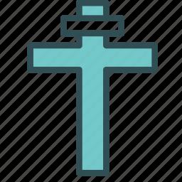 christ, christian, cross, religion, shape icon
