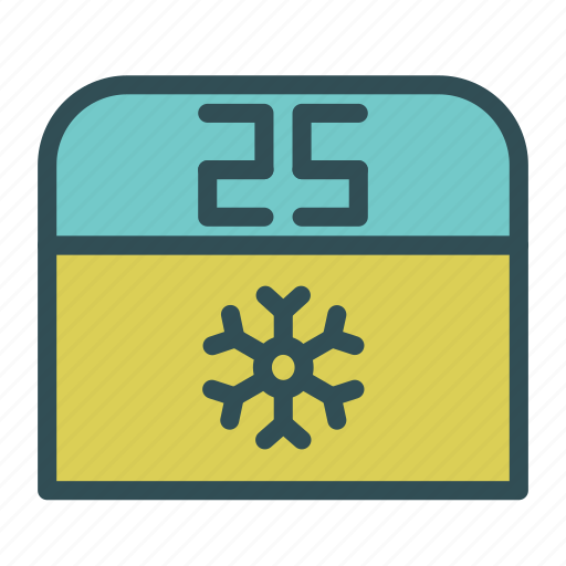 christmas, december, holiday, number, snowflake, winter, xmas icon