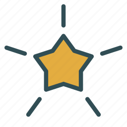 christmas, shape, shiny, star, xmas icon