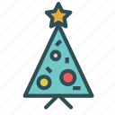 christmas, decoration, holiday, star, tree, xmas icon