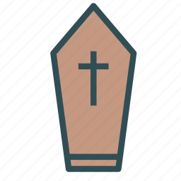 church, coffin, cross, grave, graveyard icon