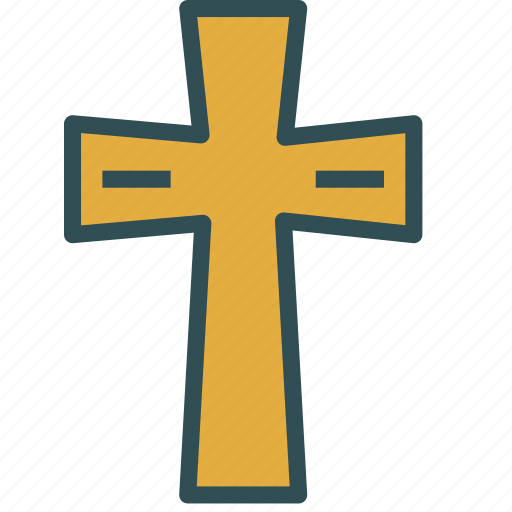 christian, cross, religion, shape icon