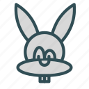 animal, avatar, bunny, easter icon